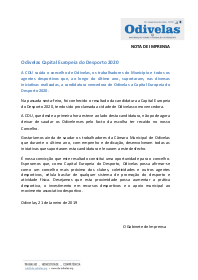 2019.01.21 NI Odivelas Capital Europeia do Desporto 2020