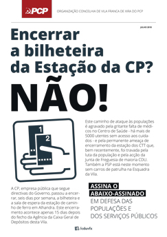 2018 Jul Comunicado PCP Estacao CP Alhandra
